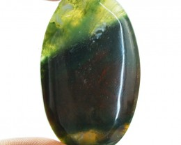 Genuine 47.50 Cts Bloodstone Oval Shape Cab