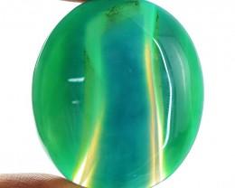 Genuine 80.50 Green Onyx Oval Shape Cab