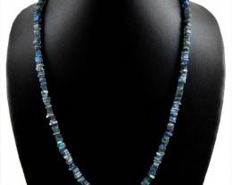 Genuine 123.50 cts Flash Labradorite Necklace