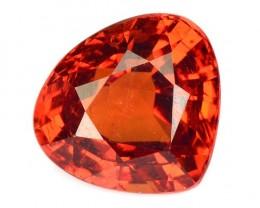 2.04 Cts Natural Mandrain Orange Heart Mix Pear Namibia Gem