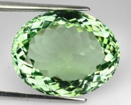 24.64 Cts Natural Green Amethyst/Prasiolite Oval Cut Brazil Gem