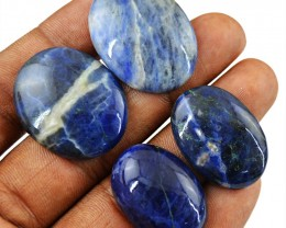 Genuine 82.50 Cts Oval Shape Blue Sodalite Cab Lot