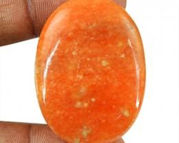 Genuine 59.00 Cts Untreated Orange Aventurine Cab
