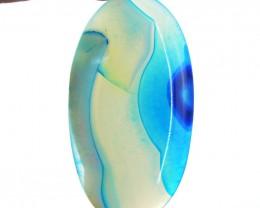 Genuine 77.50 Cts Blue Onyx Oval Shape Cab