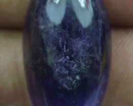 27.70 CT NATURAL UNTREATED AMETHYST CABOCHON GEMSTONE