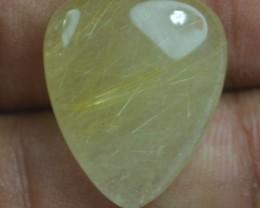 18.70 Ct Natural Untreated Rutilated Quartz Gemstone