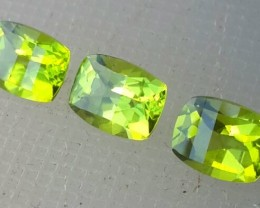 4.25 cts High Best Natural Green Pakistan Peridot 3 pcs