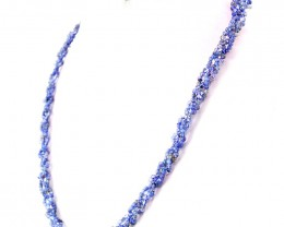 Genuine 120.00 Cts Round Shape Iolite Beads Necklace