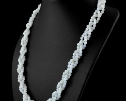 Genuine 250.00 Cts Moonstone Round Shape Beads Necklace