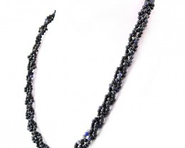 Genuine 213.00 Cts Round Shape Blue Iolite Beads Necklace