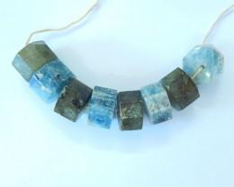 Holiday Gift,Sell 8pcs Natural Blue Kyanite and Labradorite Intarsia Bracel