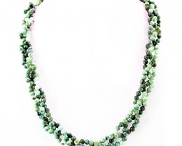 Genuine Untreated Green Emerald Beads Necklace - Wow