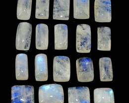 Genuine 127.50 Cts Blue Flash Moonstone Cab Lot - Wow