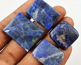 Genuine 89.50 Cts Blue Sodalite Untreated Cab Lot