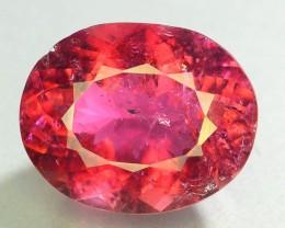 Certified Top Color 9.34 ct Natural Rubelite Tourmaline