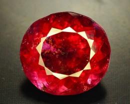 Certified Top Color 7.38 ct Natural Rubelite Tourmaline