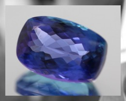 CERTIFIED & Highly prized D Block hue Tanzanite,3.09cts,VVS,Fancy cut