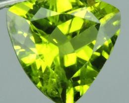 2.55 cts High Best Natural Apple Green Trillion Pakistan Peridot