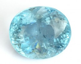 3.70 Cts Natural Santa Maria Blue Aquamarine Oval Cut Brazil Gem