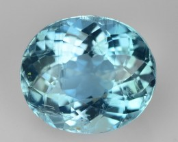 1.66 Cts NATURAL SANTA MARIA BLUE AQUAMARINE OVAL BRAZIL