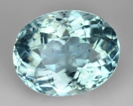 4.20 Cts NATURAL SANTA MARIA BLUE AQUAMARINE OVAL BRAZIL