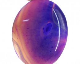 Genuine 98.50 Cts Purple Onyx Oval Shape Cab