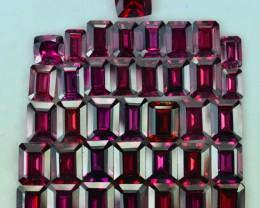 63.40 Cts 38 Pcs Fabulous Natural Rhodolite Parcel