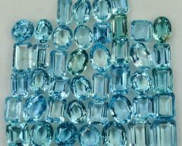 37.93 Cts 43 Pcs Delightful Natural Aquamarine Parcel