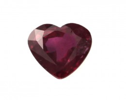0.30cts Natural Ruby Heart Shape