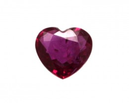 0.34cts Natural Ruby Heart Shape