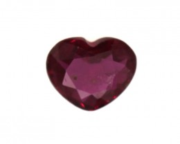 0.38cts Natural Ruby Heart Shape