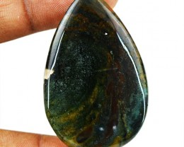 Genuine 49.50 Cts Untreated Bloodstone Cab