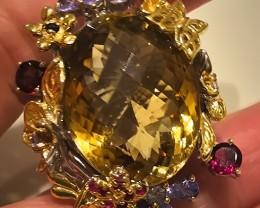 135.00ct MAGNIFICENT Tanzanite Garnet Spinel Ring Size 9