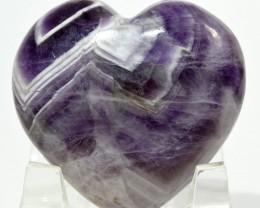 45mm Chevron Amethyst Heart Purple Quartz Crystal India (STAMH-NA232)