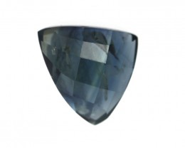 1.16cts Natural Australian Blue Sapphire Trillion Checker Board