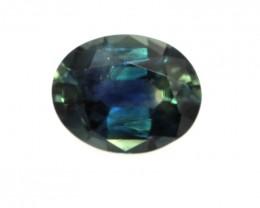 0.99cts Natural Australian yellowish/Blue Sapphire Oval Shape