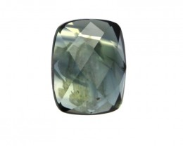 1.30cts Natural Australian Blue Parti Sapphire Cushion Checker Board
