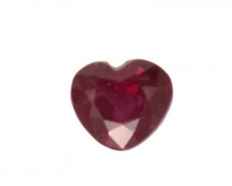 0.41cts Natural Ruby Heart Shape