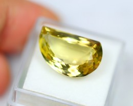 Lot 06 ~ 11.40Ct Natural VVS Clarity Yellow Color Lemon Quartz