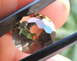 6.45ct FACETED BRAZILIAN SMOKEY QUARTZ GEMSTONE CUT IN THE U.S MJ134