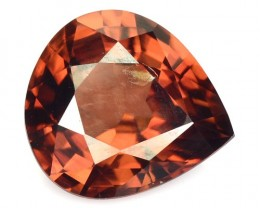 3.67 Cts Natural Brown Zircon Heart Mix Pear Cut Cambodian Gem