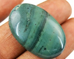 Genuine 26.50 Cts Forest Jasper Untreated Cab