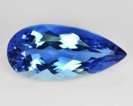 4.41 Cts Natural Blue Beryl (Aquamarine) Pear Brazil Gem