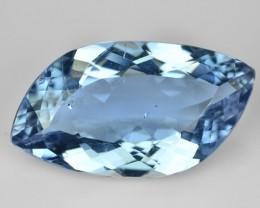 7.14 Cts Natural Blue Beryl (Aquamarine) Fancy Cut Brazil Gem