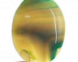 Genuine 93.50 Cts Green Onyx Oval Shape Cab