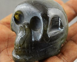 Genuine 464.50 Cts Labradorite Hand Carved Skull - Wow
