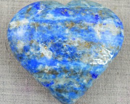 Genuine 372.00 Cts Carved Blue Lapis Lazuli Heart Cab - Wow
