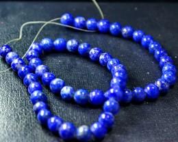181 CT Natural lapis lazuli carved beeds lot