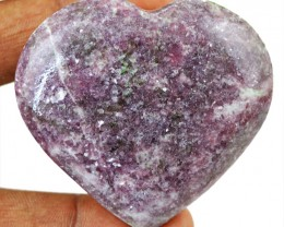 Genuine 336.50 Cts Purple Calcite Carved Heart Cab - Wow