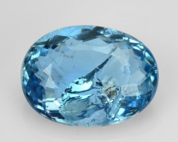 1.06 Cts NATURAL SANTA MARIA BLUE AQUAMARINE OVAL BRAZIL